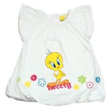 Robe Titi - Forme Boule - Blanche - Manches Courtes