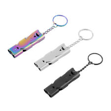 Emergency Survival Safety Loud Whistle Outdoor Camping Hiking Keychain Tool