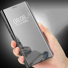 Luxury Slim Clear Plating HD Mirror Flip Phone Case Cover For Huawei Mate Honor