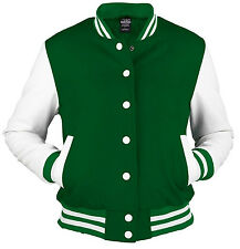 URBAN CLASSICS green/white college oldschool jacket woman giacca donna _