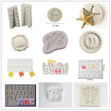 Silicone Cake Cupcake Mold Icing Fondant Chocolate Cake Topper DIY Baking Moulds