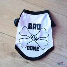 Bad To The Bone Dog T-Shirt   Dog Top   Puppy   Dog Clothes