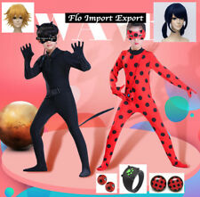Simile Lady bug Cat Noir Vestito Carnevale Cosplay Ladybug Chat LBUG03 CHAN09