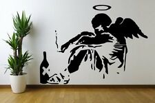 Banksy Fallen Angel XXL 120cm x 160cm Huge Amazing Wall Stickers. Many colours.
