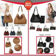 Ladies Handbag Faux Leather Hobo Bag With Pouch Womens Stylish Shoulder Bag New
