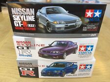 TAMIYA kits 24145 24210 24341 24090 24258 NISSAN SKYLINE R32 R33 R34 GT-R 1:24th