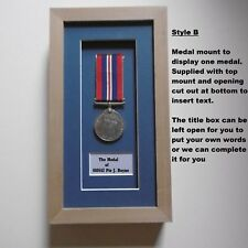Medal Frame - One Medal with title box- REAL WOOD- Buy 2 GET ONE FREE!!!!