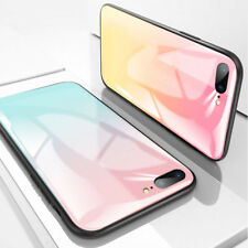 Luxury Laser Gradient Tempered Glass Color Phone Case Cover For iPhone X 8 7 6