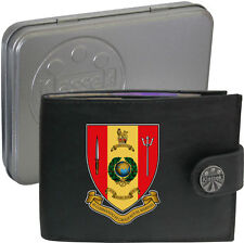 Royal Marines 43 Commando  on Mens Wallet Real Leather RFID Chain Keyring