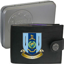Royal Marines 40 Commando  on Mens Wallet Real Leather RFID Chain Keyring