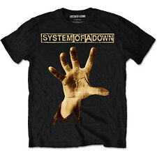 System of a Down Hand Heavy Metal Rock Official Tee T-Shirt Mens Unisex