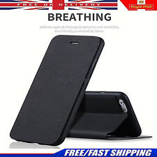 Ultra Fino Cuero Artificial Breathing Funda Tipo Cartera con tapa para Iphone