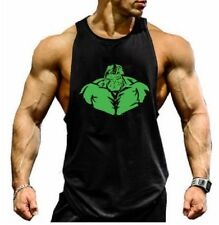 Mens Gym Hulk Muscle Bodybuilding Training Fitness Stringer Cotton Tank Top Vest