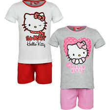 vêtements de nuit Lot court Pyjamas Fille Hello Kitty blanc rouge gris 98 104