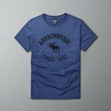 2018 New Abercrombie & Fitch Summer Men Muscle fit  T-shirt Navy2 Tee Size S-XXL