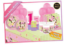 Set Festa 1°Compleanno Baby Minnie Deluxe 68pz