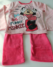 velours enfants vêtements de nuit Lot pyjamas fille Maison Minnie Rose 104 - 140