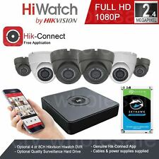 Hikvision CCTV 1080P HD 2.4MP Outdoor Night Vision Home DVR Security System Kit^