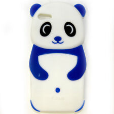 Cute 3D Panda Shape Soft Silicone Rubber Kid Case Cover Skin For iPhone 5 & 5S