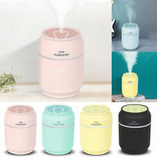 3 in1 USB Mini Bottle Cans Shape Humidifier With Fan Night Light Air Diffuser UK