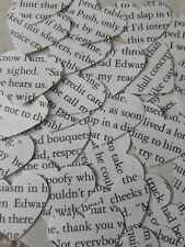 Heart Wedding Table Confetti/Decoration - Twilight Book/Rustic/Vintage Chic