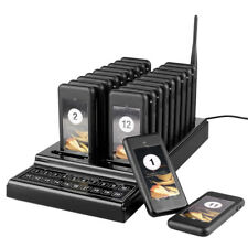 1For20 CoffeeShop Restaurant Coaster Pager Guest Call Wireless Page Queue System