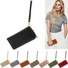 Womens Designer Zip Around Purse Ladies Celebrity Style Faux Leather Wallets New