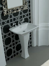 LAVABO + COLONNA ARTCERAM JAZZ - WASCHBECKEN MIT SPALTE - WASHBASIN AND COLUMN