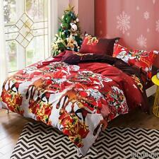 Quilt Duvet Covers Bedding Sets Pillow Case xmas Santa Claus Red Cover Room C1