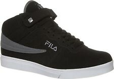 NEW 2016 BOY'S GIRL'S FILA VULC 13 BLACK CLASSIC HIGH TOP ANKLE STRAP SNEAKERS