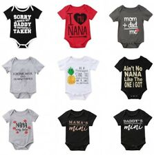 Romper Baby Girl Boy Clothes Bodysuit Jumpsuit Newborn Funny Outfit Infant 0-24M