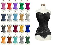 Heavy Duty Double Steel Boned Over Bust Waist Trainer Satin Corset 8151-LS-BM
