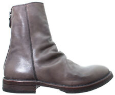 MOMA Scarpe Donna Ankle Boots 81802-1D Bufalo Grigio Vintage Made In Italy New