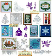 Sweet Dixie Stocking Bunting Die :: Presents :: Dove Panel :: Snowman Star ::