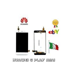 "DISPLAY LCD+ TOUCH SCREEN +COVER FRAME PER HUAWEI G PLAY MINI 5"" NERO BIANCO"