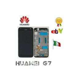 Huawei Ascend G7 Touch Screen Display Lcd + Frame NERO BIANCO