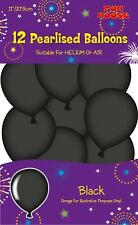 Children Black Birthday Party Balloons Pack of 12 Party Supplies Accessories