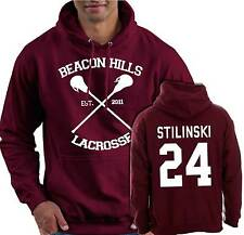 Hooded Top Beacon Hills Teen Wolf Inspired Stilinski 24 Jumper Screen Printed