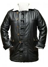 Leather jacket for men bane coat dark knight batman rises trench black
