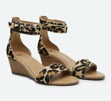 NEW UGG Womens Char Leopard Strap Buckle Sandals Shoes Chestnut