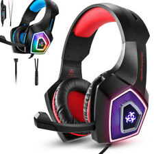 Azul Rojo Gaming Headset Auriculares por PS3 PS4 PS4 Pro Xbox One PC 3D estéreo