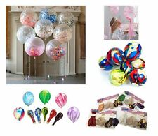 "12"" Multi Colour + Confetti Filled Balloon Birthday Party Decoration 5-50Pcs UK"