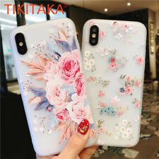 Fashion Flower Rose Floral Leaves Soft Gel Phone Case Cover For iPhone X 8 7 6 5