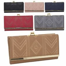 New Ladies Embroidered Synthetic Leather Large Wallet Purse
