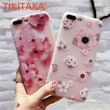 Ultra Slim Fashion 3D Relief Colorful Flower Soft Phone Case Cover For iPhone