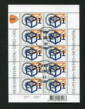 "4S. NETHERLANDS POSTALLY USED SHEETLET ""POSTNL ON THE STOCK EXCHANGE"" 2011"
