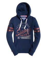 Superdry Womens Track & Field Overhead Hoodie Navy Marl WS6 *SAME DAY DISPATCH*
