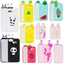 Cute Animal Cat Silicone Case Cover For Samsung Galaxy S9 S8 Plus S7 Edge A3 A5