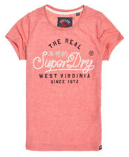 Superdry Womens Western Rope T-Shirt Sun Bleached Red Snowy *SAME DAY DISPATCH*
