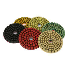 "4inch Diamond Polishing Pads Dry/Wet Buffing Disc For Granite Concrete 1/4"" Thic"